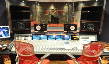 Noisematch Studios Noisematch Studios (Miami, FL), featuring a pair of walnut-finished OWA HR2 monitors.