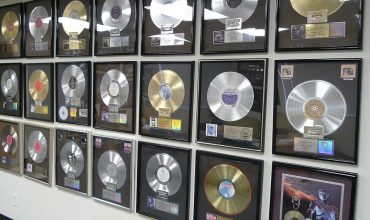 Ocean Way Awards Some of the many gold and platinum record sales awards at Ocean Way.