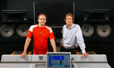 Rob Cavallo and Allen Sides Producer Rob Cavallo with Allen Sides at a private studio in Los Angeles with an OWA 415T system.